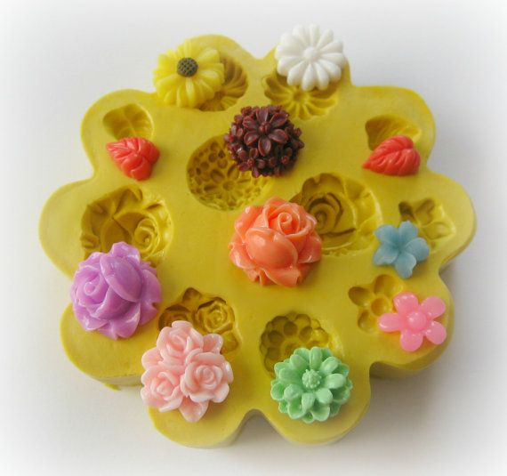 Whispering molds...alot of styles. Flower Mold Daisy Tiny Flowers DIY Earrings Design Mold Polymer Clay Resin Button Magnet Mould via Etsy