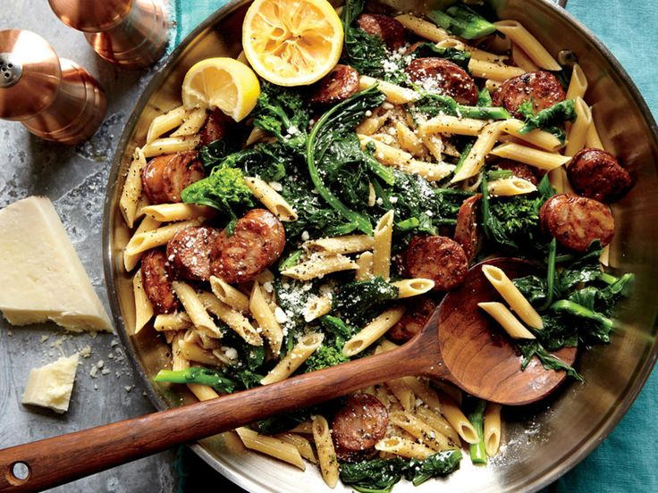 If broccoli rabe is a bit bitter for your family or if you have trouble finding it, chopped broccoli would be a delicious substitute....