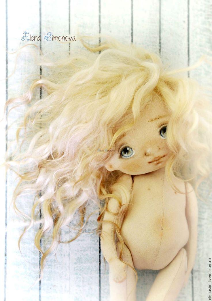 Купить ВЫКРОЙКА куколки-малышки с поворотной головой - комбинированный, выкройка игрушки, выкройка, выкройки