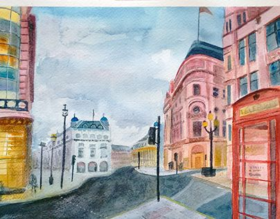 """Check out new work on my @Behance portfolio: """"Watercolor - Londres"""" http://be.net/gallery/36390835/Watercolor-Londres"""