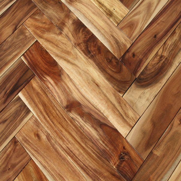 Shop Acacia Natural Herringbone hardwood flooring from