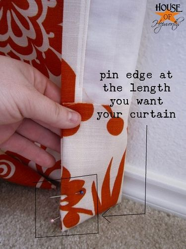 Great tutorial for making lined drapery panels