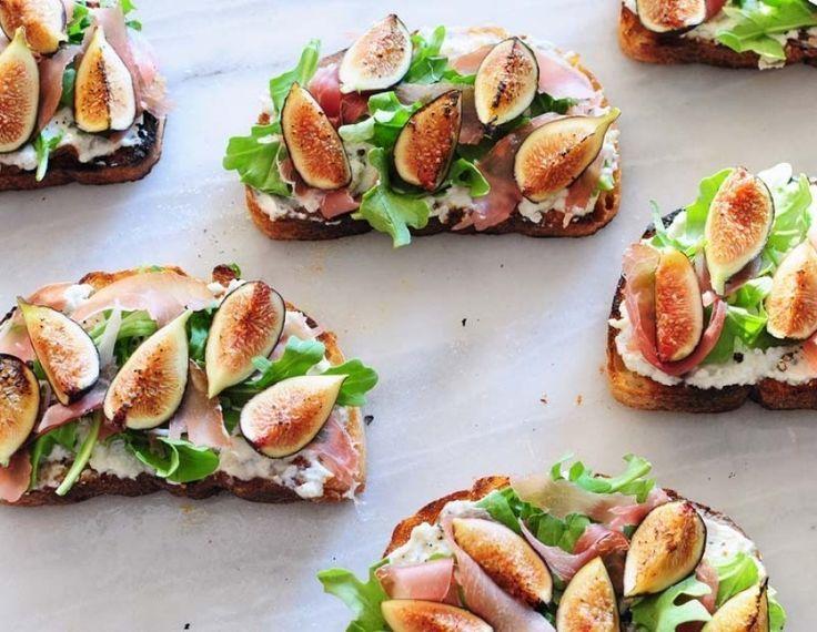 summer healthy appetizers ideas-Fig bruschetta