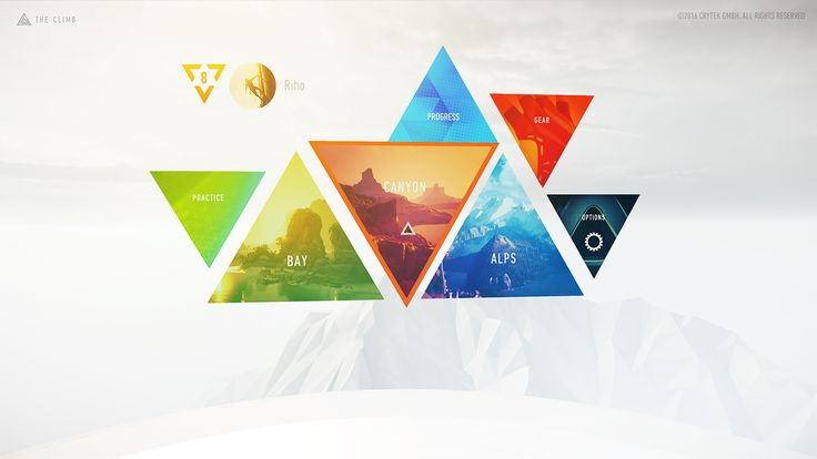 https://www.behance.net/gallery/36973013/The-Climb-VR-Menu