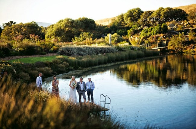 Top 20 Garden & Outdoor Wedding Venues in Cape Town | Confetti Daydreams - Gardens and a large dam bordered by trees makes #Hidden #Valley a picture perfect venue ♥ #Garden #Outdoor #Wedding #Venues #Cape #Town