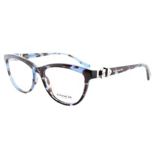 982ef25967 Coach HC 6087 5392 Blue Tortoise (Green) Plastic Cat-Eye Eyeglasses ...