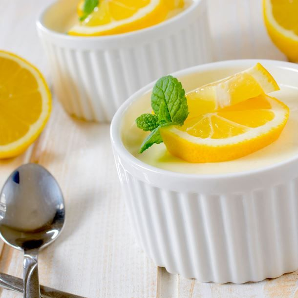 Panna cotta vanille et citron