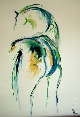 "Saatchi Online Artist Marie Ackers; Drawing, ""Horse I"" #art"