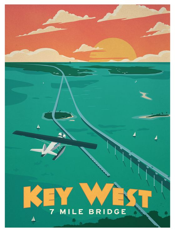 Image of Vintage Key West Poster