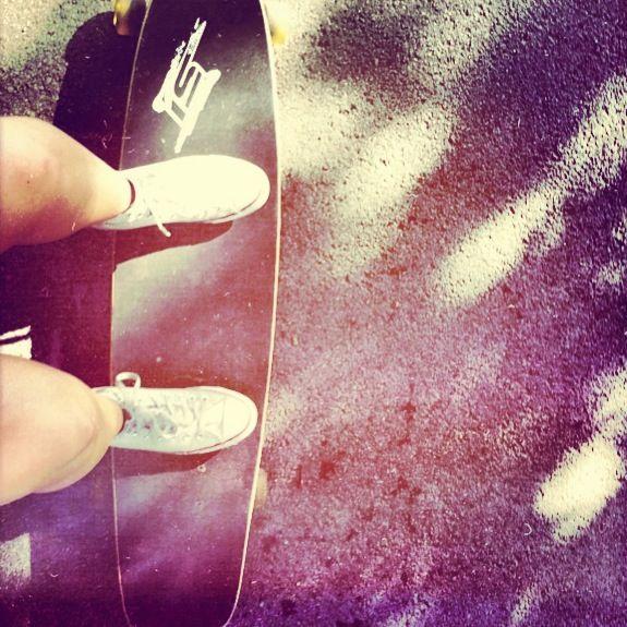 Longboarding.