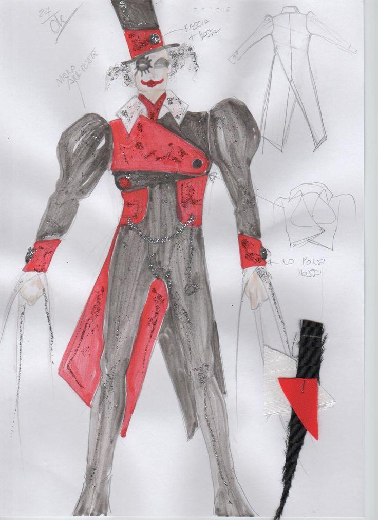 Schizzo per il costume dell'imbonitore, Circus La Rosa Mannequins