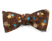 Bow Ties - FAB FLOWERS - BROWN