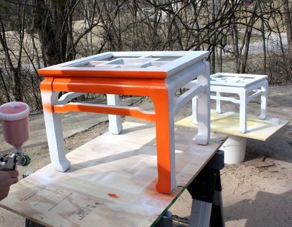 DIY lacquered furniture