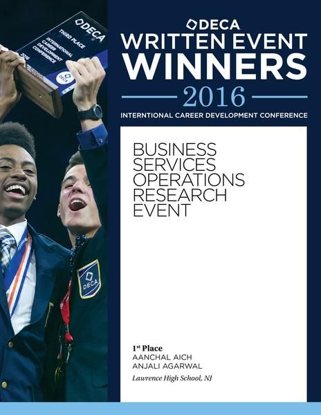 2016 Written Event Winners