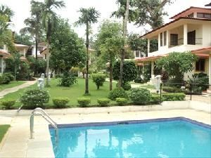 Flat for sale at Arpora 1st floor, 2 bedrooms (1 attached), living, dining, kitchen, 1 bath & toilet, balcony, furnished, overlooking swimming pool,in a complex with security,carpark etc.For more info contact: mailto:allpropert... #goa #india #villa #property #homes