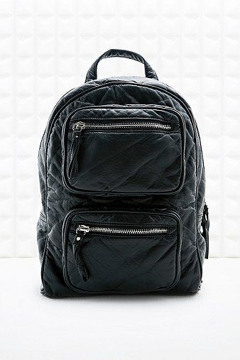 Small Three Zip Backpack in Black