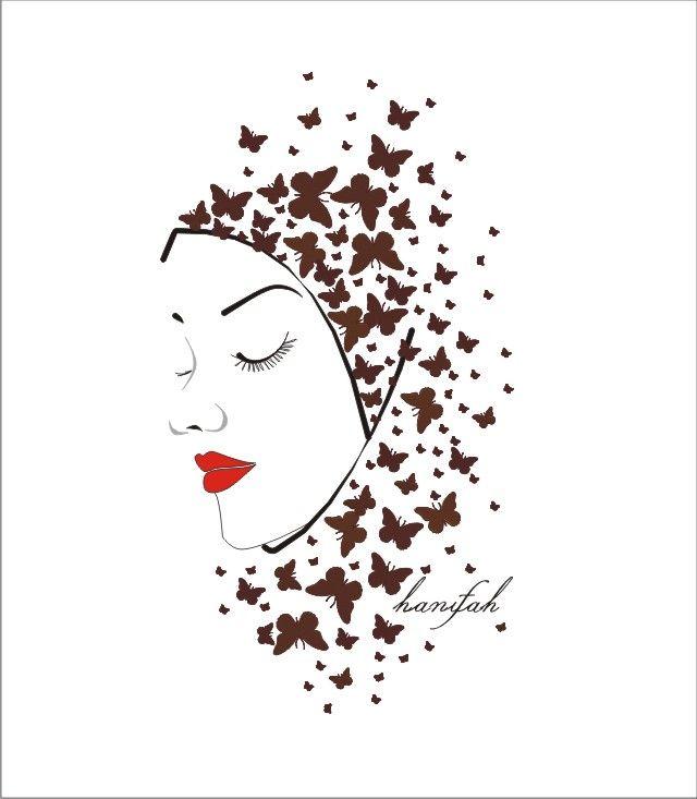 butterflies effect on my hijab