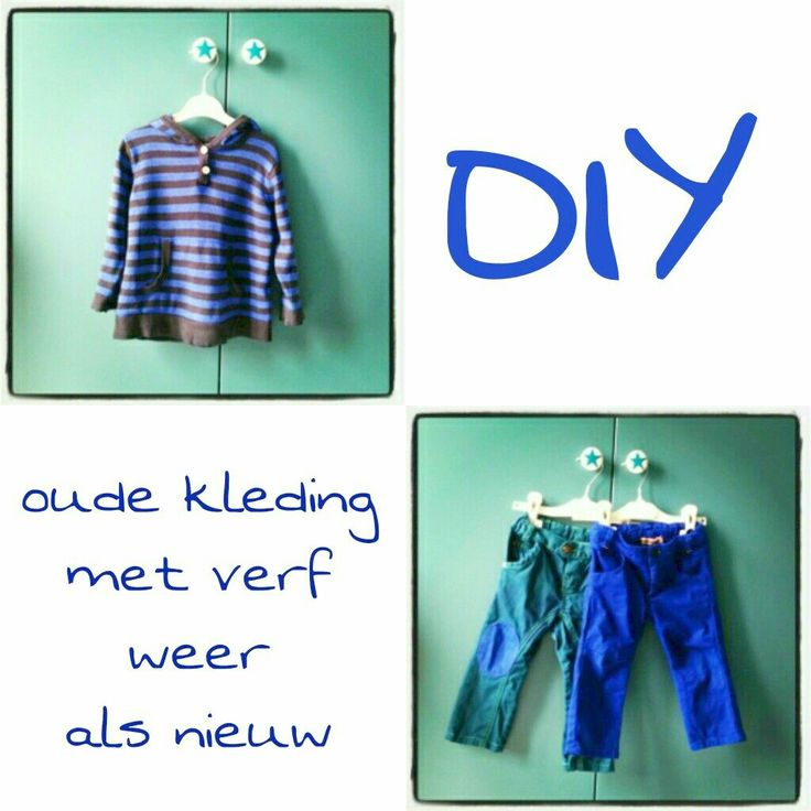 DIY: oude kleding met verf weer als nieuw #leukmetkids #kinderkleding