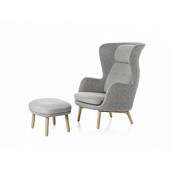 """Ro Lounge Chair and Ottoman World-renowned Spanish designer Jaime Hayon worked with Fritz Hansen to create today's answers to tomorrow's lounge chair. """"Ro"""", meaning tranquility in Danish, was chosen because it captures the point of the chair in just two letters, thus reflecting the Nordic approach and concept of beauty. The Ro™ is made with pristine craftsmanship and is constructed in the highest sustainable quality."""
