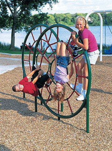 Spider Web Climber from Landscape Structures is durable commercial playground equipment that provides lots of climbing challenges during outdoor play at the park or playground.
