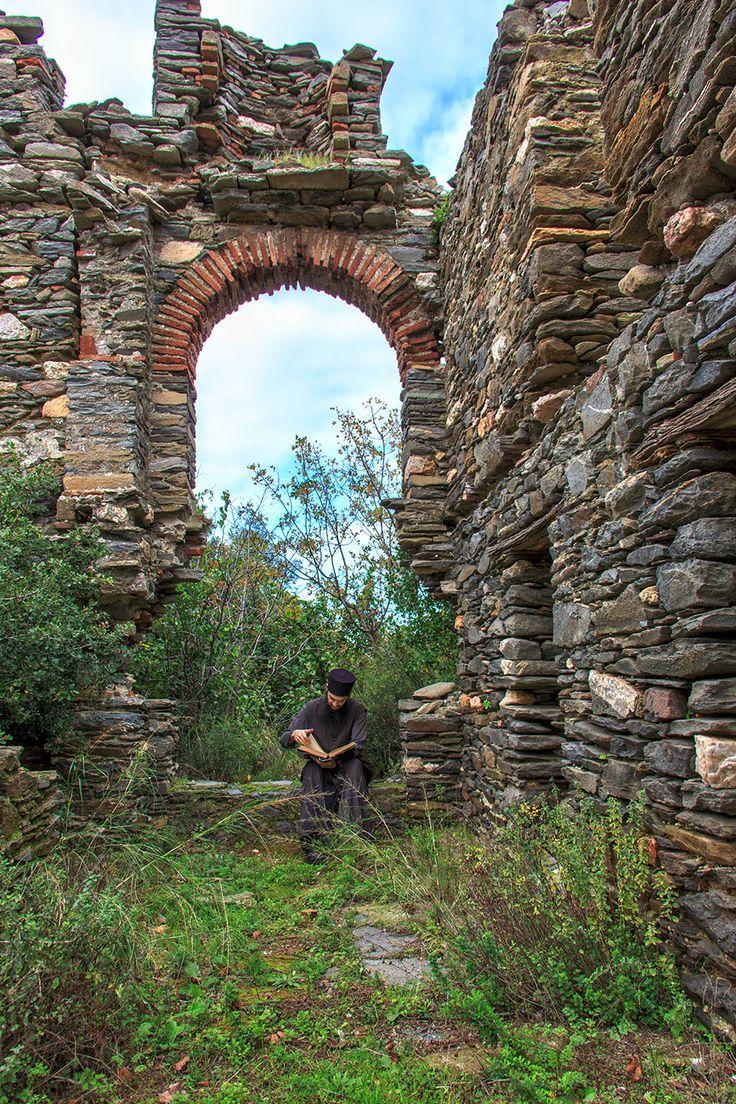 Near Holy Monastery of Vatopaidi, Mount Athos