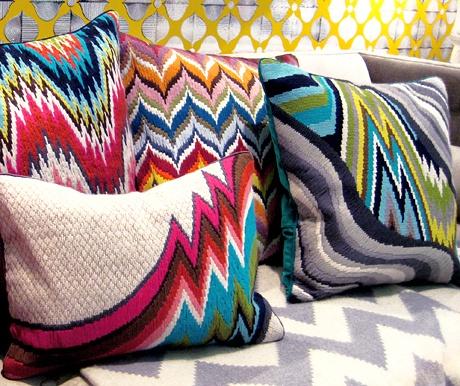Jonathan Adler Bargello pillows