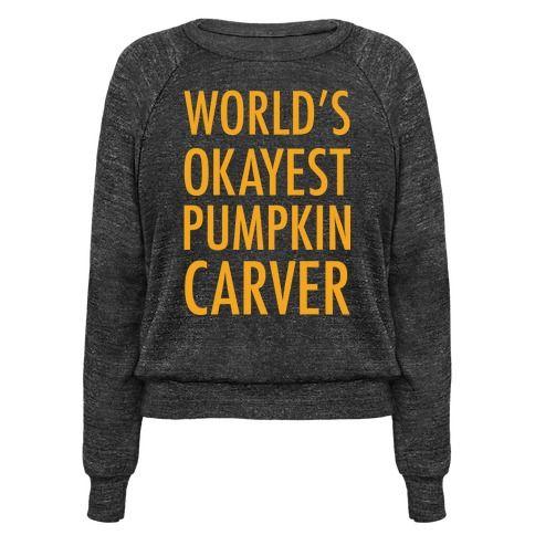 World's Okayest Pumpkin Carver.