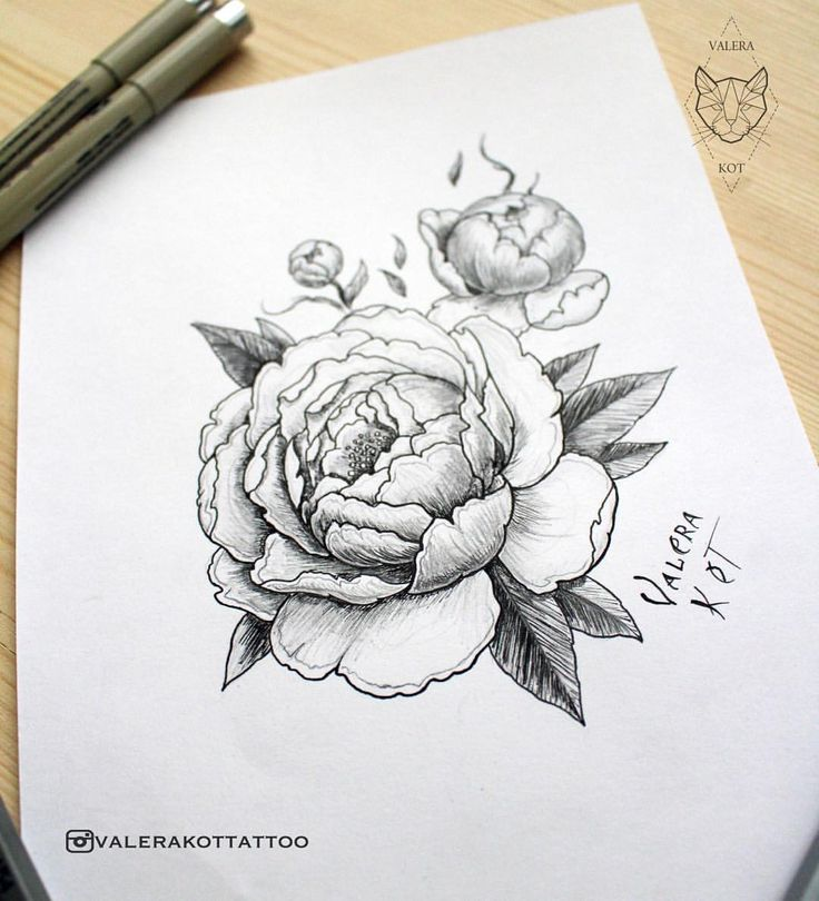 329 отметок «Нравится», 9 комментариев — ТАТУ МАСТЕР, ЭСКИЗ, TATTOO (@valerakottattoo) в Instagram: «More peonies/Еще больше пионов🌿#peony #peonytattoo #flowertattoo #womantattoo #graphic…»
