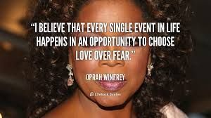 I believe that every single event in life happens in an opportuity to choose love over fear. - Oprah Winfrey  For more inspiration and ultimate life visit our website ==>> www.GhramaeJohnson.com.  #lifecoach #confidenceboost #achievementunlocked #belifollower #kindness #coach #OprahWinfrey #longevitynow #lifecoaching #fear #successmindset #confidenceboost #music #confidence #heal #hustle #selfimprovement #confidence #phychotherapy #selflove #BusinessCoach #Positivevibes #decision…