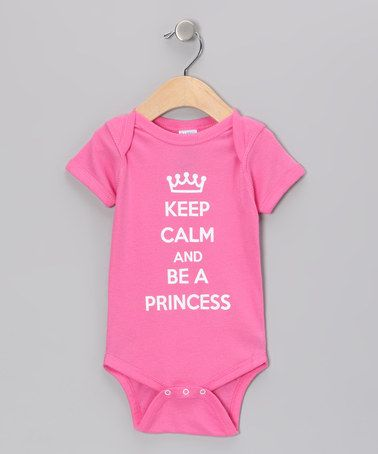 Take a look at this Raspberry 'Be a Princess' Bodysuit - Infant by Donkey Tees on #zulily today!