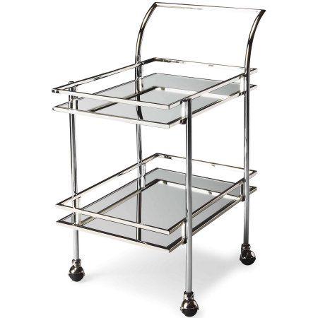 Butler Gatsby Contemporary Bar Cart, Silver