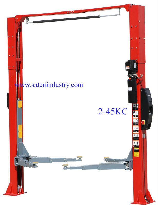 4500kg Capacity Electric Car Auto Lift With Dissymmetrical Arms