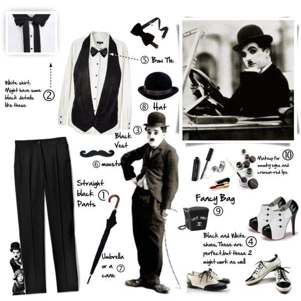 """200.Do-It-Yourself Halloween Costume:Charlie Chaplin"" by fashion-freak-galiusha on Polyvore"