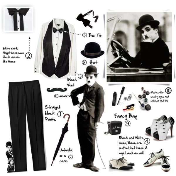 """200.Do-It-Yourself Halloween Costume:Charlie Chaplin"" by fashion-freak-galiusha on Polyvore"