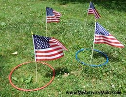 Giant Ring Toss for Independence Day picnic. #picnicgames #july4th homechanneltv.com