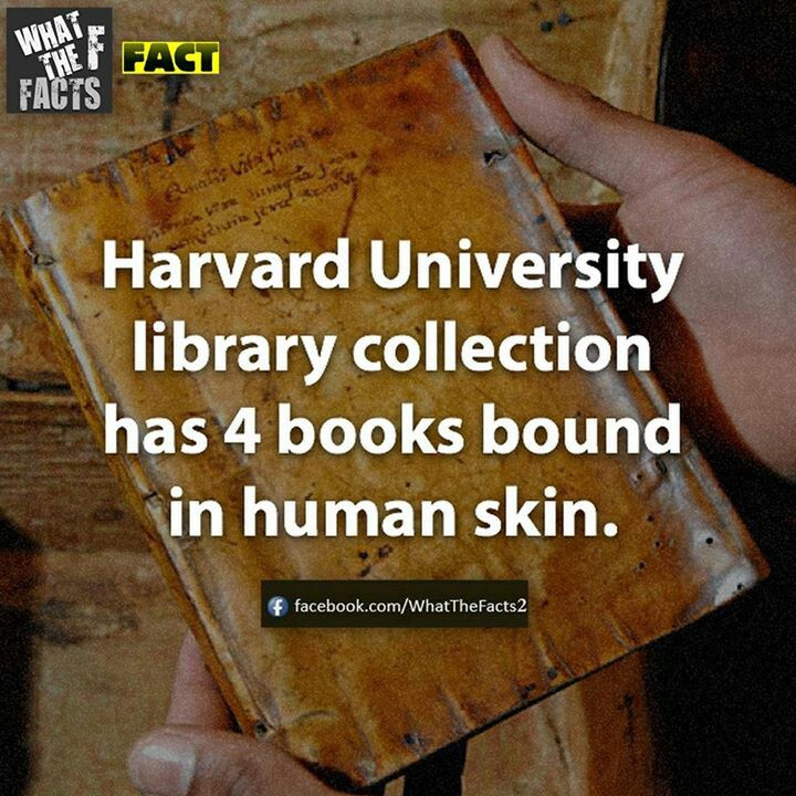 This is just...disgusting and fascinating at the same time. (Checked this out and it is true on the Harvard library page.)