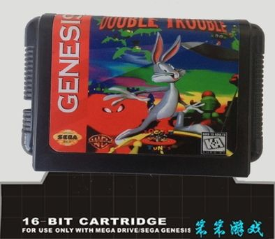 Sega 16bit MD карточные игры: Bugs Bunny in Double Trouble Для 16 бит Sega MegaDrive Genesis игровой консоли