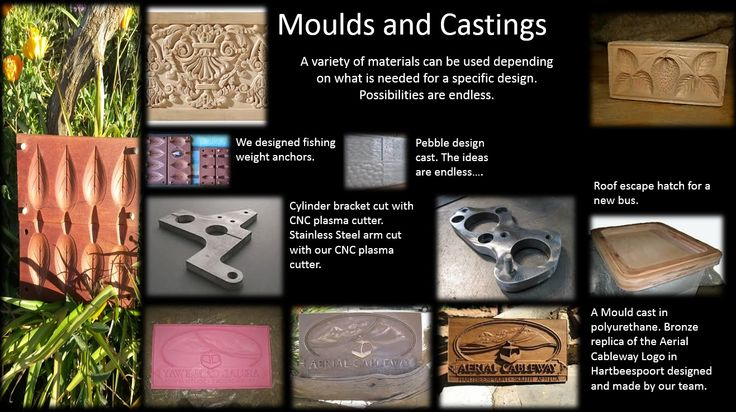 A Mould cast in polyurethane. Bronze or copper finish. Carved moulds for designers