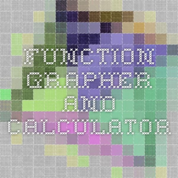 Function Grapher and Calculator