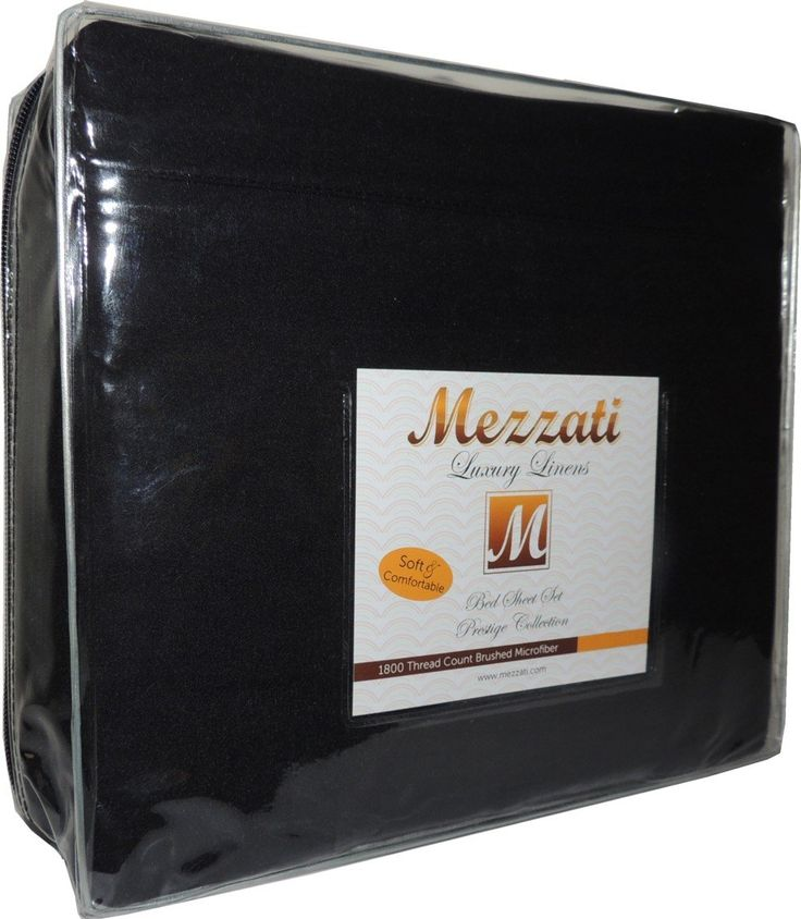 Mezzati Luxury Duvet Cover Set - Best, Softest, Coziest Set on Amazon! - SALE 1800 Prestige Collection Brushed Microfiber - BONUS eBook!! (Black, King)