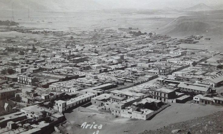 Vista General de Arica, al parecer en 1918. - EnterrenoEnterreno