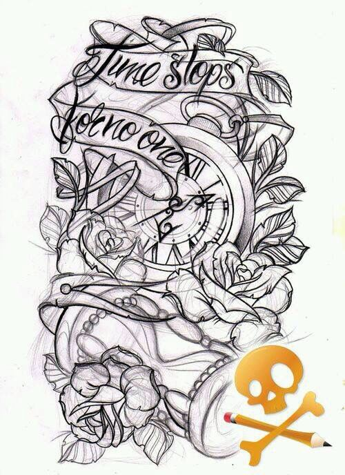 "Thigh piece...but id want it to say ""tempus fugit"""