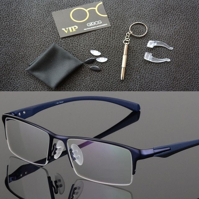 339f446ca0a2 2019 Fashion Titanium rimless eyeglasses frame Brand designer Men Glasses  suit reading glasses optical prescpriton lenses Review