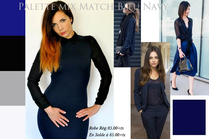 Navy palette fall /winter 2015-2016  Dress Against Nudity available online Maddie Malone Boutique