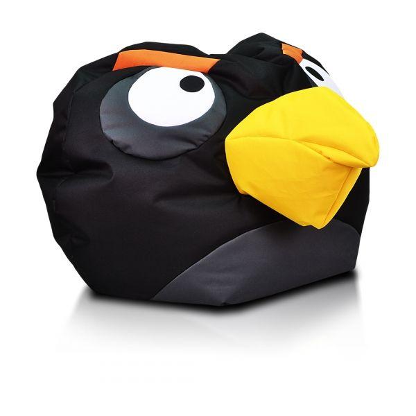 black angry bird bomb