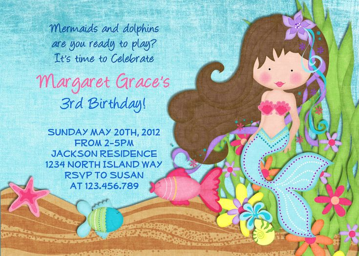 17 Best Ideas About Mermaid Party Invitations On Pinterest