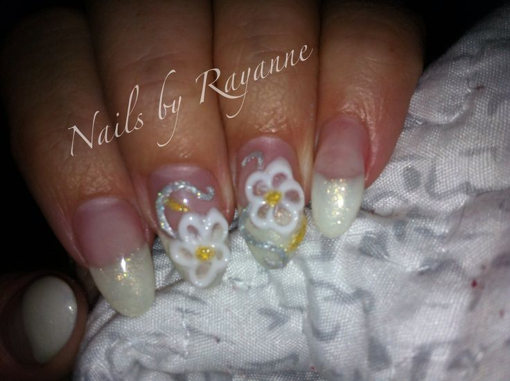 LCN sculptured nails with 3D gel