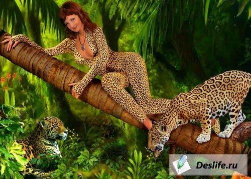 Костюм psd в джунглях