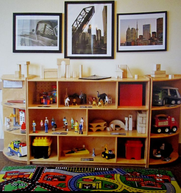 Great set up for a block area: Building Hanging, The Block, Teaching Building, Animal