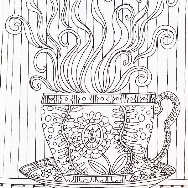 A Page From Color Me Happy Part Of The Zen Coloring Book Range By Art Therapist Lacy Mucklow